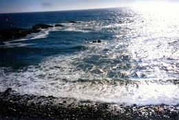 The ocean was breathtaking