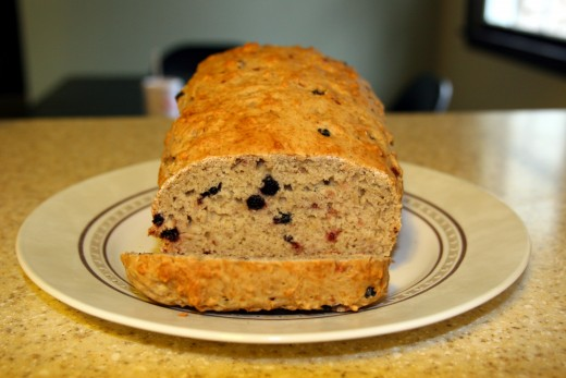 Make Barmbrack, or Irish tea bread, this St. Patrick's Day! This loaf was made with dried blueberries rather than raisins.