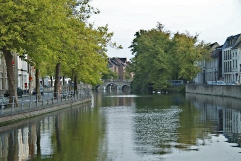 A view of one of Bruges canals