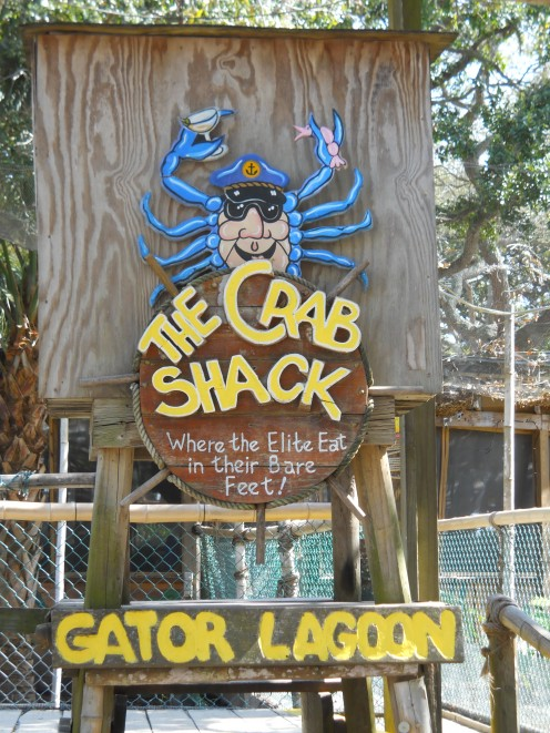 The Crab Shack Restaurant's  Gator Lagoon entrance on Tybee Island, GA. You can learn all you need to know about alligator safey here.