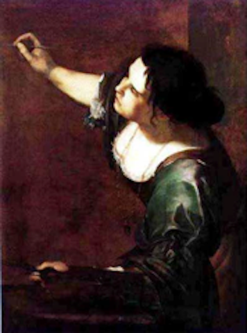 """Self Portrate as the Allegory of Painting"" by Artemisia Gentileschi"