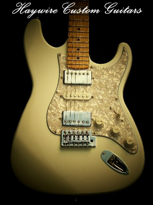 Haywire Double Fat Plus Superstrat® in Antique White with Blocked Tremolo