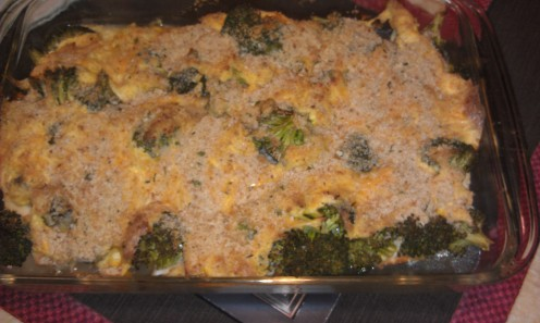 Chicken and Broccoli Bake - fresh from the oven