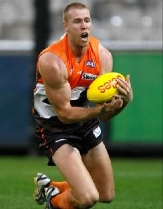 Jonathan Giles (pictured) looks set to lead GWS ruck division this year.