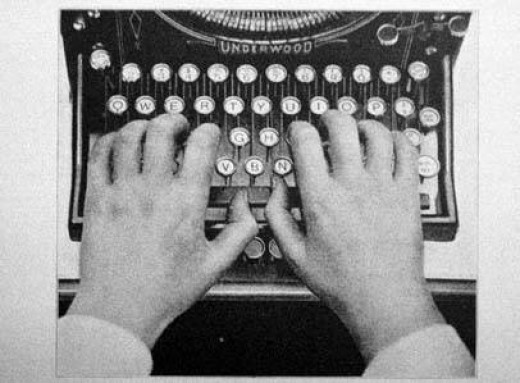 writing online is *almost* like writing on a typewriter
