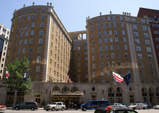 The 1979 National Spelling Bee was held at the Mayflower Hotel.  I was most impressed with its multi-story letter drops.