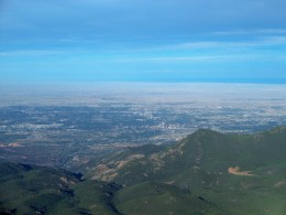 View from the summit of Pike's Peak