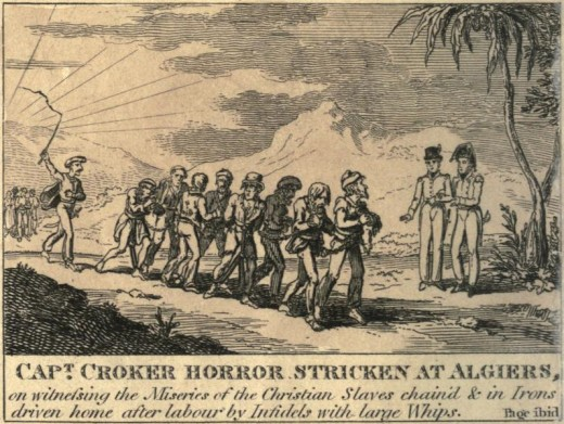 Christian slaves captured on the high seas by Algerian pirates
