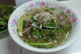 Bowl of Pho Beef Noodle.