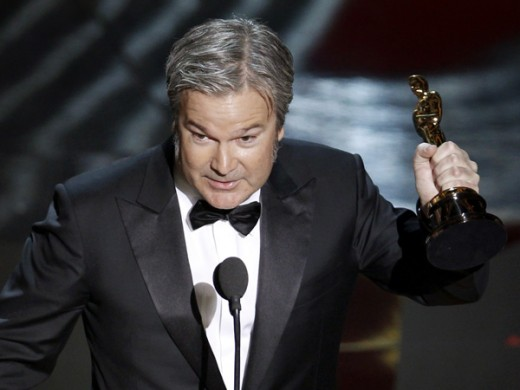 Gore Verbinski recieves The Oscar for Best Animated Feature 2012