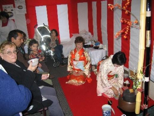 Japanese tea ceremony at Pickle fest
