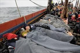 Crew at rest on Sea Stallion of Glendalough