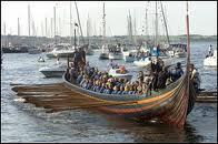 Under oar power