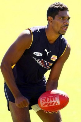 Gerrick Weedon (pictured) impressed in the round 1 of the NAB Cup and is a good chance to claim Mark LeCras' open spot for round 1 of the AFL season.