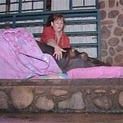 Now I sleep on the porch