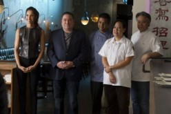 Padma, Emeril, Floyd Cardoz, Anita Lo and Takashi Yagihashi