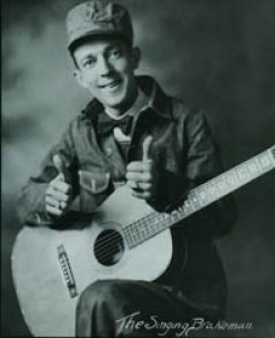 """THIS IS JIMMIE RODGERS, """"FATHER OF COUNTRY MUSIC,"""" AND NOT TO BE CONFUSED WITH WILL ROGERS."""