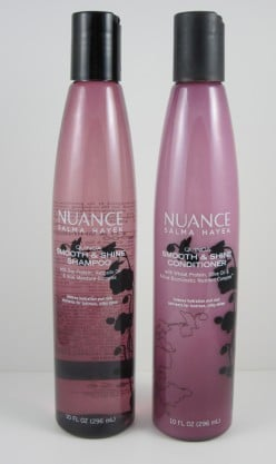 Product Review for Salma Hayek's Nuance Hair Care Shampoo and Conditioner