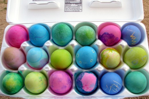 Colourful Dyed Eggs