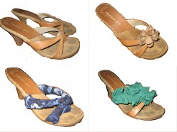 How to Update your Sandals and Flip Flops: 3 Easy DIY Projects Using Fabric and Ties