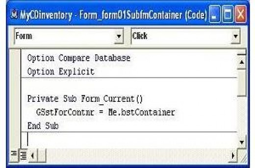 "GSstForContnr variable setting at ""On Current"" event of control 'form01SubfmContainer'"
