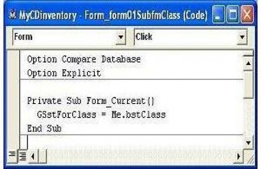 "GSstForClass variable setting at ""On Current"" event of control 'form01SubfmClass'"
