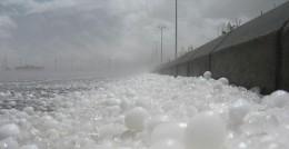 Gigantic hailstones