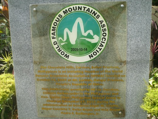 Chocolate Hills of Bohol became a member of World Famous Mountains in October 14, 2009.
