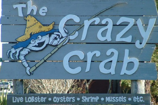 The Crazy Crab restaurant is adjacent to the welcome center and is a great place to enjoy seafood overlooking the sound.
