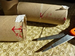 Measure the roll. Cut in half.