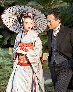 "Zhang Ziyi with Ken Watanabe in a scene from ""Memoirs of a Geisha"""