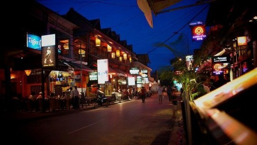 A street in Siem Reap