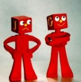 "The bad guys, G and J Blockhead from the ""Gumby"" TV series."