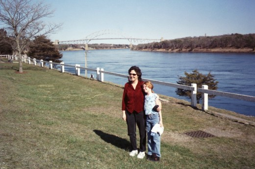 My daughter and I in Cape Cod,MA in her pre-high school days!