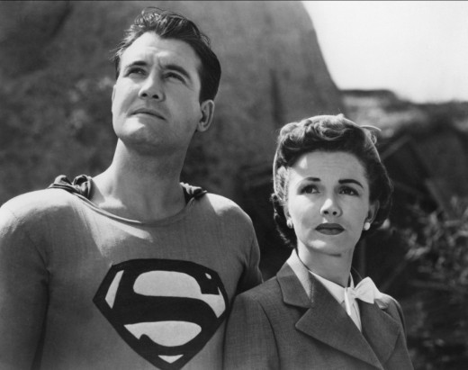 George Reeves and Phyllis Coates