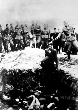 Einsatzgruppen in the East.  More of the Holocaust's victims fell to these mobile murder detachments than to the organized camps.