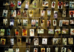 Memorial to the victims of the Rwandan genocide, Daily Mail photograph.