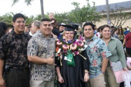 My Graduation Day with my four children (all college graduates).