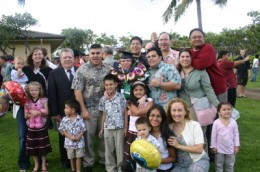 Many of my grandchildren, and my father came to celebrate with me on my graduation day.