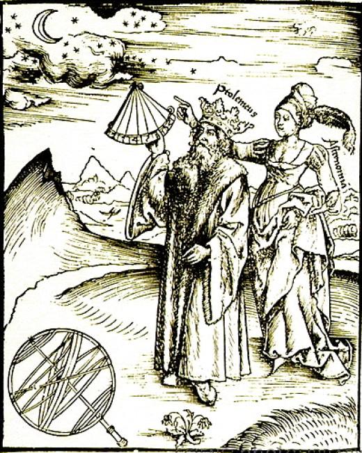 Engraving of Claudius Ptolemy (AD c100-170)