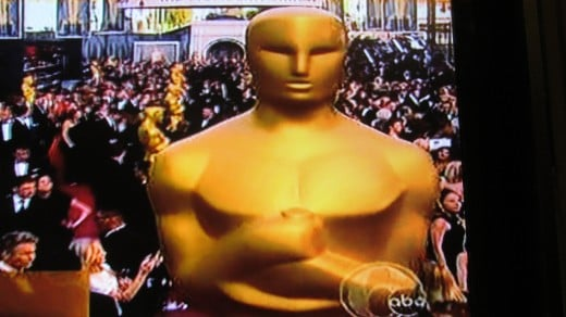 A photo of Oscar statute from the Academy Awards at Kodak Theater.