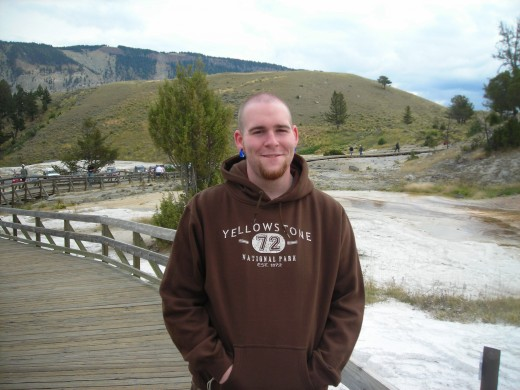 My son, who I love deeply, on our trip to Yellowstone.