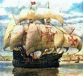 Caravel used by Portuguese navigators.