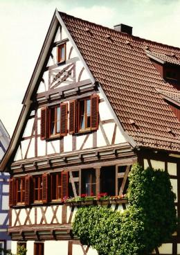 Cross timbered (half timbered) house in Herrenberg