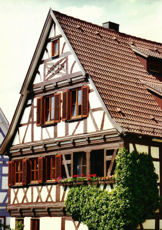 Cross timbered (half timbered) house in Herrenberg