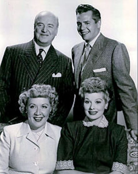 "Cast of ""I Love Lucy"" - William Frawley, Desi Arnaz, Vivian Vance, Lucille Ball"