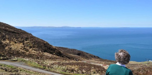 looking at Northern Ireland and Rathlin Island from the Mull of Kintyre