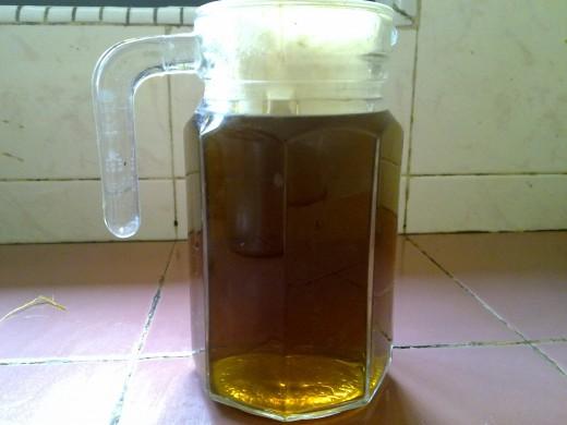 a jug of home grown tea