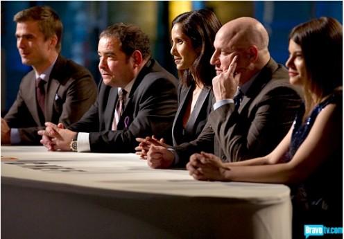 Hugh, Emeril, Padma, Tom and Gail
