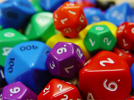 The new Marvel Heroic RPG requires lost of dice--and lots of different kinds of dice.